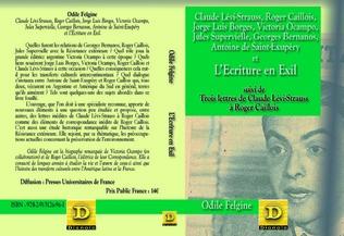 Couverture L'Ecriture en exil