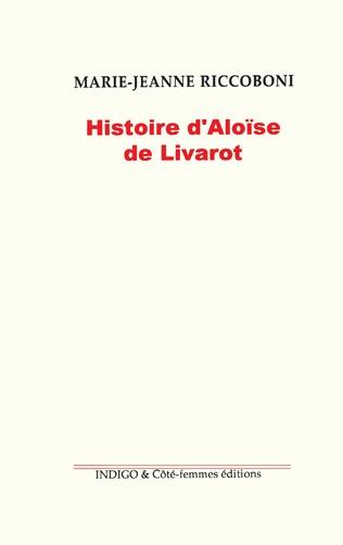 Couverture Histoire d'Aloïse Livarot (1780)