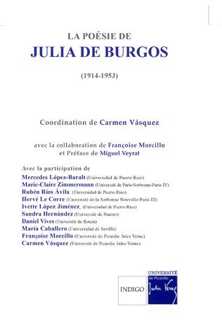 Couverture La poésie de Julia de Burgos (1914-1953)