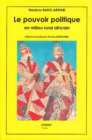 Couverture Le pouvoir politique en milieu rural africain