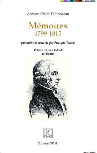 Couverture Mémoires 1799-1815