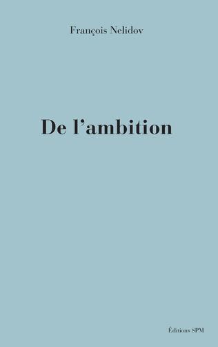 Couverture De l'ambition