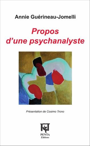 Couverture Propos d'une psychanalyste