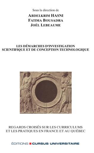 Couverture Les démarches d'investigation scientifique et de conception technologique