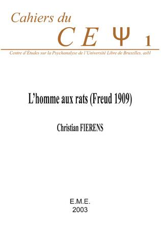 Couverture L'homme aux rats (Freud 1909)
