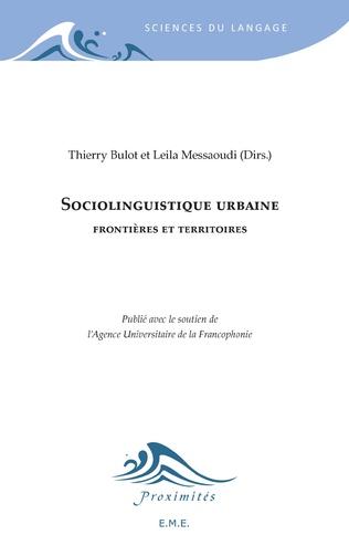 Couverture Sociolinguistique urbaine