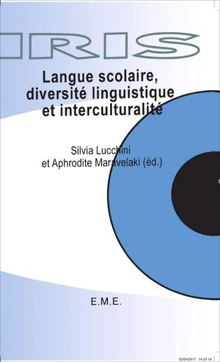 Couverture Langue scolaire, diversité linguistique et interculturalité