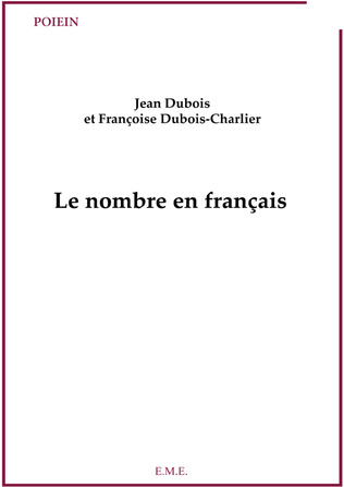 Couverture Le nombre en français