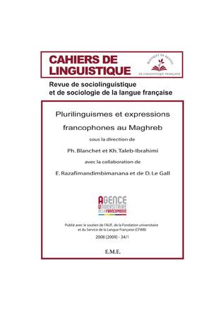 Couverture Plurilinguismes et expressions Francophones au Maghreb