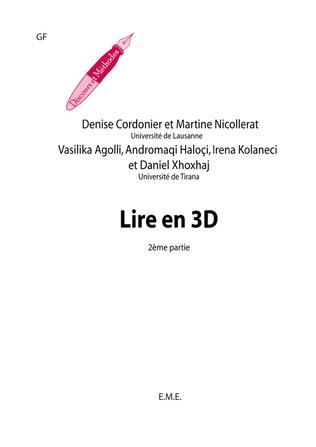 Couverture Lire en 3 D. Recueil d'activités langagieres modulées sur les textes. Fasc. 2
