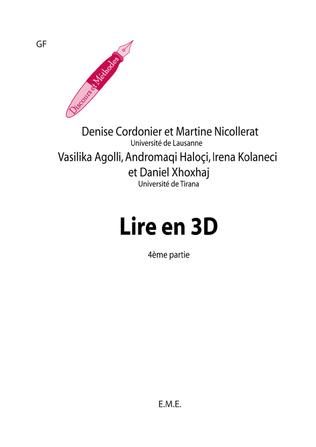 Couverture Lire en 3D (4e partie)