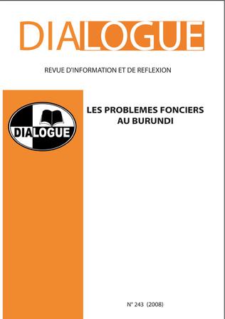 Couverture Les problèmes fonciers au Burundi