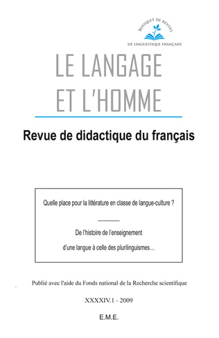 Couverture Quelle place pour la littérature en classe de langue-culture ?