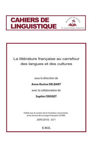 Couverture La littérature française au carrefour des langues et des cultures