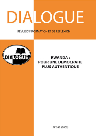 Couverture Rwanda : pour une démocratie plus authentique