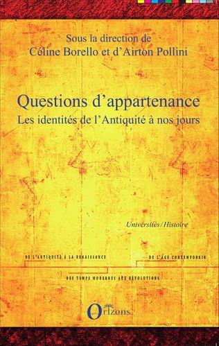 Couverture Questions d'appartenance