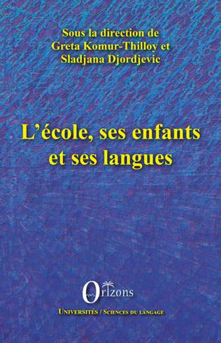 Couverture L'école, ses enfants et ses langues