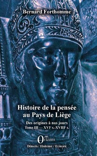 Couverture Histoire de la pensée au Pays de Liège