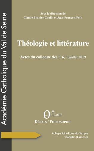 Couverture Théologie et littérature