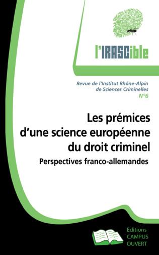 Couverture Prémices d'une science européenne du droit criminel