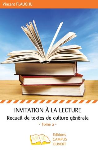 Couverture Invitation à la lecture (Tome 2)