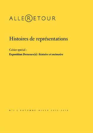Couverture Histoires de représentations