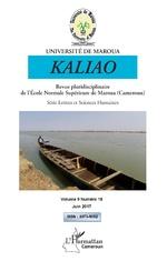 Kaliao Revue pluridisciplinaire de l'Ecole Normale Supérieure de Maroua (Cameroun) -