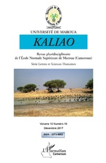 Kaliao 10 revue pluridisciplinaire de l'Ecole Normale Supérieure de Maroua (Cameroun) -