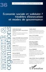 Economie sociale et solidaire ? Modèles d'innovation et modes de gouvernance -