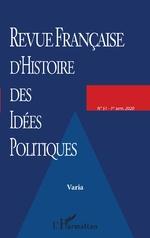 Revue Française d'Histoire des Idées Politiques -