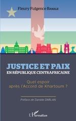 Justice et paix en République centrafricaine -