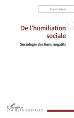 De l'humiliation sociale - Claude Giraud