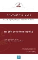 Les défis de l'écriture inclusive - Alain Rabatel, Laurence Rosier