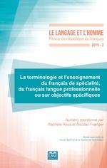 La terminologie et l'enseignement du français de spécialité, du français langue professionnelle ou s ... - Rachele Raus, Nicolas Froeliger