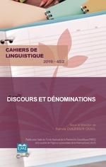 Discours et dénominations -