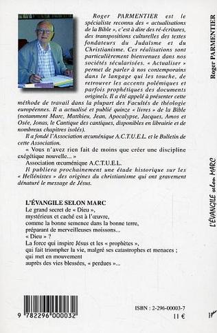 4eme L'Evangile selon Marc actualisé