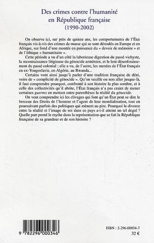 4eme Des crimes contre l'humanité en République française