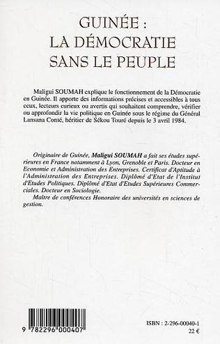 4eme Guinée : la démocratie sans le peuple