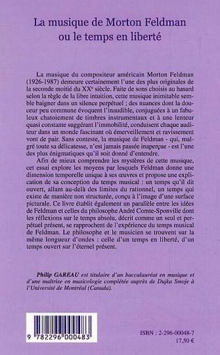 4eme La musique de Morton Feldman ou le temps en liberté