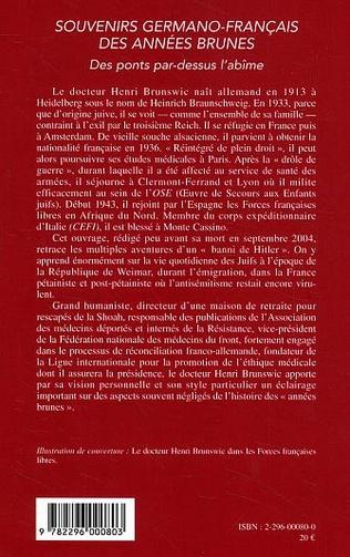 4eme Souvenirs germano-français des années brunes