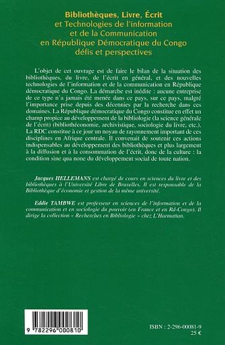 4eme Bibliothèques, Livre, Ecrit et Technologies de l'Information et de la Communication