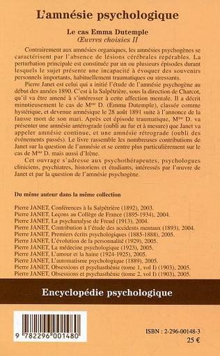 4eme L'amnésie psychologique