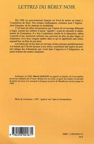 4eme Lettres du béret noir