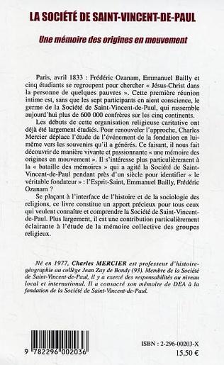 4eme La société de Saint-Vincent-de-Paul