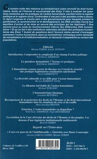4eme L'action humanitaire : normes et pratiques
