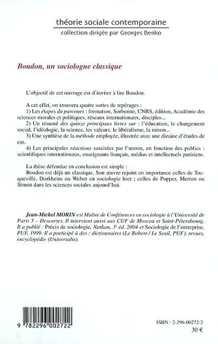 4eme Boudon, un sociologue classique