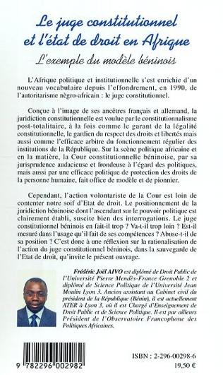 4eme Contribution éloquente du juge constitutionnel a la protection des droits de la personne au bénin