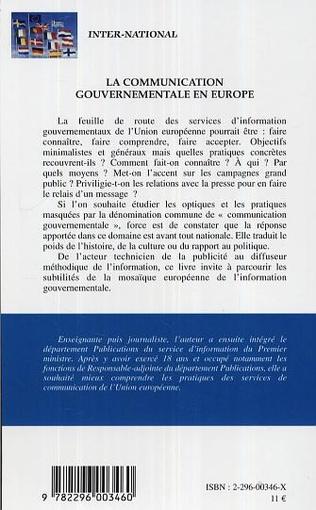 4eme La communication gouvernementale en Europe