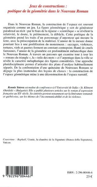 4eme Jeux de constructions : poétique de la géométrie dans le Nouveau Roman