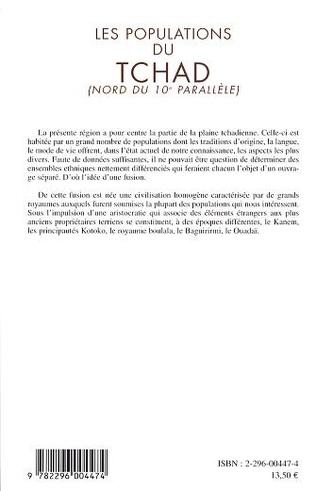 4eme Les populations du Tchad (Nord du 10è parallèle)
